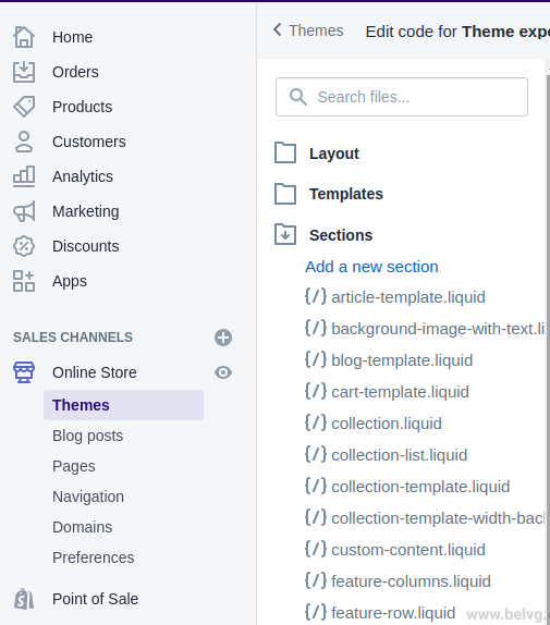 how to add new shopify sections pagebuilder
