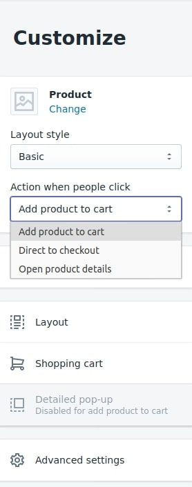 Shopify add to cart button manage